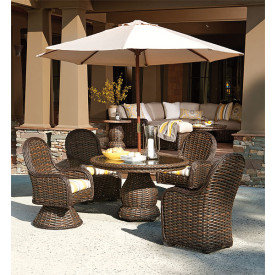 South Hampton Synthetic Wicker 5-Piece Dining Set