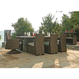 (9 )Piece Leeward Synthetic Outdoor Wicker Dining Set