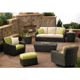 (7) Piece Leeward Synthetic Wicker Seating Group