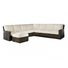 Leeward Synthetic Outdoor Wicker 6-Pc Sectional