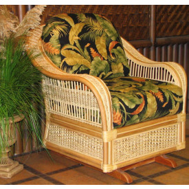 Fiji  Rattan Framed Natural Wicker Glider Chair