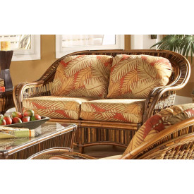 Sanibel Natural Rattan Loveseat