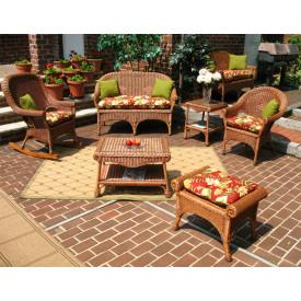 (4) Piece Diamond Set with 2 Chairs & Cushions