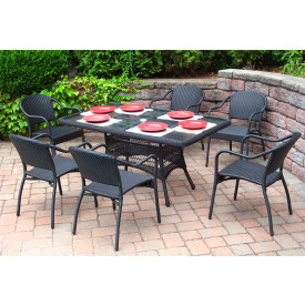 60 x 36 Rectangular Dining Set with 6-Bistro Chairs