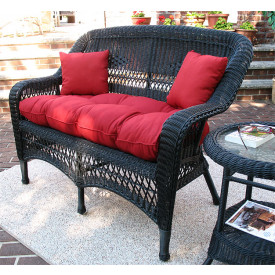 Belair Resin Wicker Loveseat with Cushion