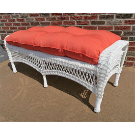 Belaire Wicker Bench with Cushion