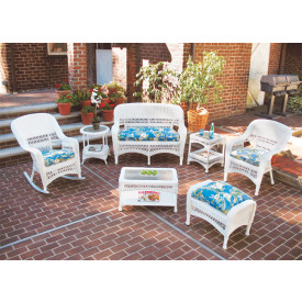 4-Pc Belair Resin Wicker Set with Cushions