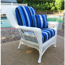 Barcelona Lounge Resin Wicker Chair with Cushions