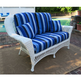 Barcelona Resin Wicker Loveseat with Cushions