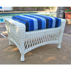 Barcelona Wicker Ottoman with Cushion
