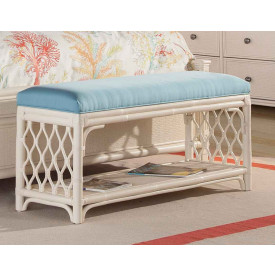 Carolina Rattan Bench with Cushion