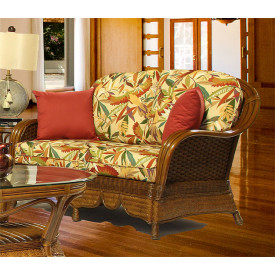 Casa Blanca  Rattan loveseat with Cushions
