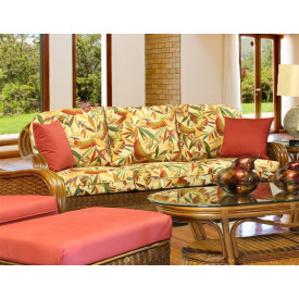 Casa Blanca Rattan Sofa with Cushions