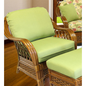 Coconut Beach Rattan Lounge Chair with Cushions