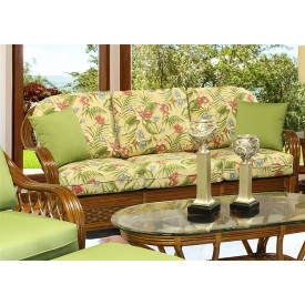 Coconut Beach Rattan Sofa with Cushions