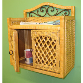 Chelsea 2-Door Wicker Wall Rack