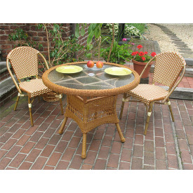 36  Round Resin Wicker Cafe Bistro Set
