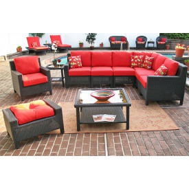 Caribbean Sofa-Loveseat 10 Piece Sectional Set