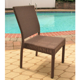 Caribbean Resin Wicker Dining Side Chair