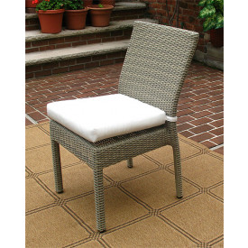 Caribbean Resin Wicker Dining Side Chair with Cushion