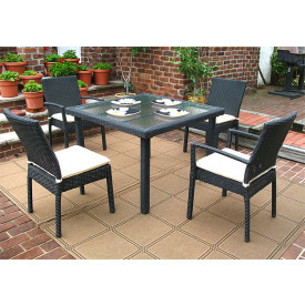 Caribbean 5-Pc Square Dining Set