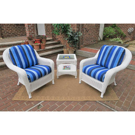 3 Piece Laguna Beach Resin Wicker Chat Set
