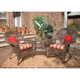 (3) Piece Madrid Resin Wicker Chat Set (1) Chair (1) Rocker