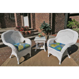 Naples Natural Wicker Chat Set 3 Pieces