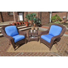 3 Piece Palm Springs Resin Wicker Chat Set