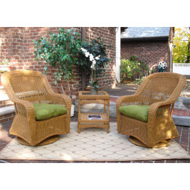 Belaire Swivel Glider Chat Set (Square Table)