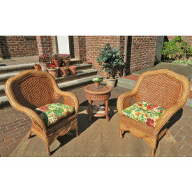 Tangiers Natural Wicker Chat Set 3 Pieces