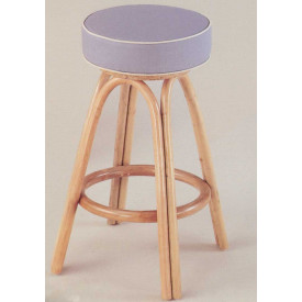Backless Rattan Swivel Counter Stool with Cushion (Min 2) Price Each