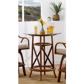 Classic Comfort Rattan Bar Height Dining Table