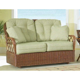 Eastwind Natural Rattan Loveseat Glider (Custom Finishes Available)