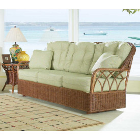 Eastwind Natural Rattan Sofa Glider( Custom Finishes Available)