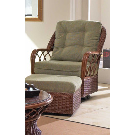 Eastwind Natural Rattan Glider Chair (Custom Finishes Available)