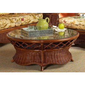 Eastwind Round Rattan Cocktail Table (Not Sold Alone)