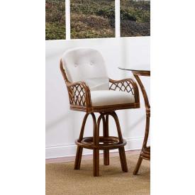 Grand Isle Rattan Swivel Bar Stool with Seat & Back Cushions (Min 2) Price Each