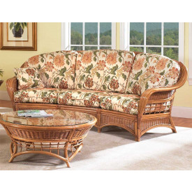 Mountain View Natural Rattan Crescent Sofa (Custom Finishes Available)