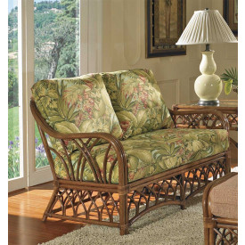 Orchard Park Natural Rattan Loveseat