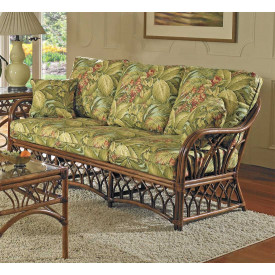 Orchard Park Natural Rattan Sofa (Custom Finishes Available)