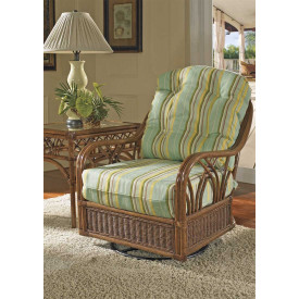 Orchard Park Natural Rattan Swivel Glider Chair