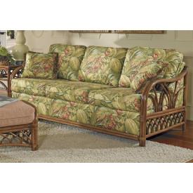 Orchard Park Rattan Sleeper Sofa (Custom Finishes Available)