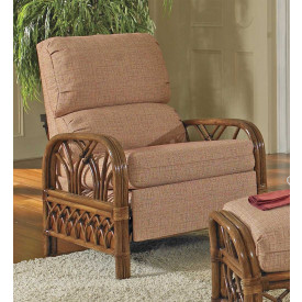 Orchard Park Natural Rattan 3-Position Recliner  (Custom Finishes Available)