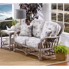Oceanview Natural Rattan Loveseat