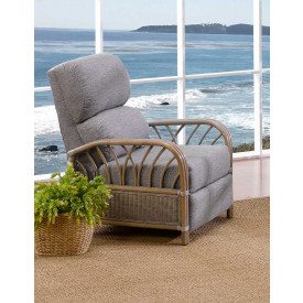 Oceanview Natural Rattan 3-Position Recliner  (Custom Finishes Available)