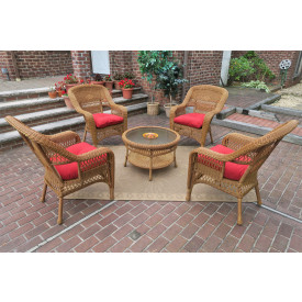 "Belaire Resin Wicker Conversation Set with 19.5""High Table"
