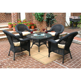 Malibu Resin Wicker Conversation Set with 24 High Table