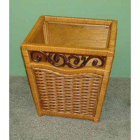 Chelsea Wicker Wastebasket