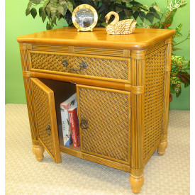Del Ray Rattan Commode Cabinet